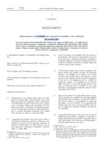 Regolamento (UE) N. 258/2012 del 14 marzo 2012 del 14 marzo 2012