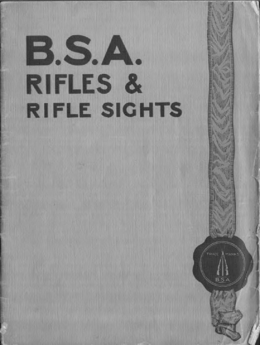 BSA Rifle e Rifle Sights 1912