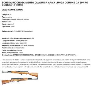 Scheda 13_00193 - Simonov SKS prodotto nell'arsenale russo di Izhevsk, con caricatore amovibile