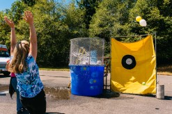 The dunk tank at Fluke Day