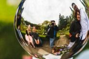 Mirror ball selfie