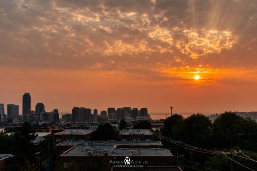 Smokey Seattle Sunset