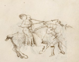 Ghiavarina vs. horseman. Getty Ms. f. 46.