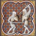 sword and shield poste - Français 2813 - Grandes Chroniques de France c.1380
