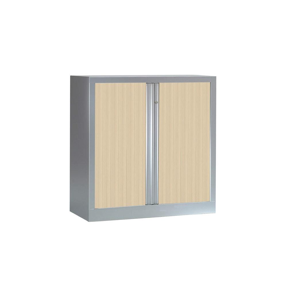 armoire serie plus structure aluminium et rideaux erable h100 l100