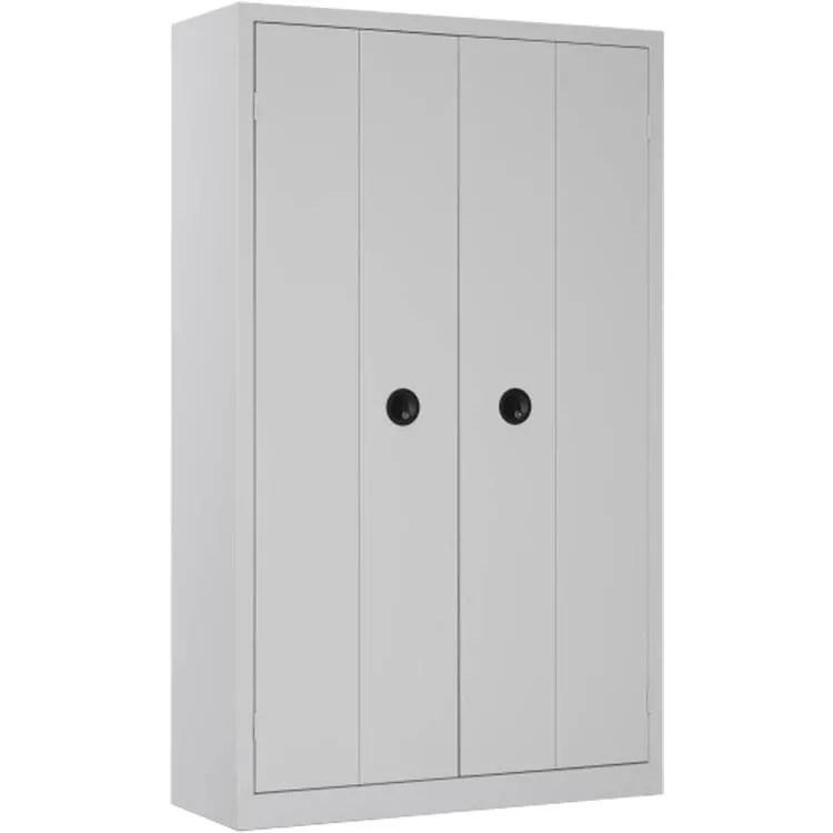 une armoire de bureau a portes pliantes grise