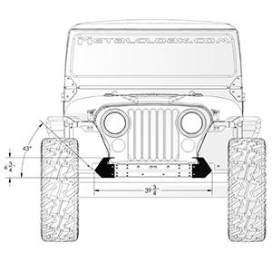 Frame Built Jeep Bumper Cj