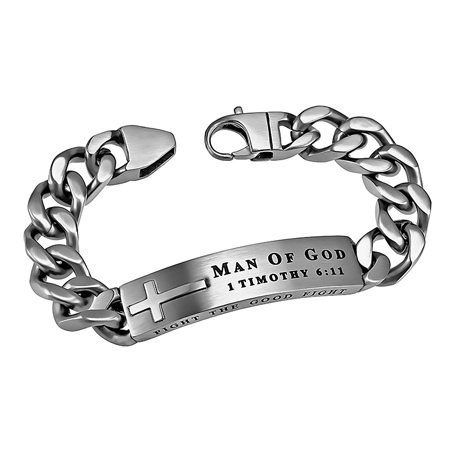 Men S Silver Bracelets With Cross