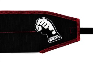bleed red strength wraps wrist