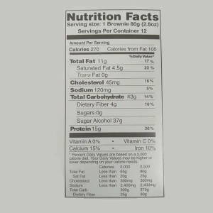 Justine's Complete Protein Brownie Double Chocolate Dream 80g Nutrition Facts ArmourUP Asia Singapore