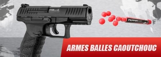 arme balle caoutchouc