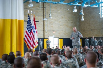 Infantry Soldiers get pep talk from Army chief of staff ...