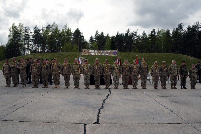 The U.S. team took third place during the second annual Strong Europe Tank Challenge, May 12, 2017.