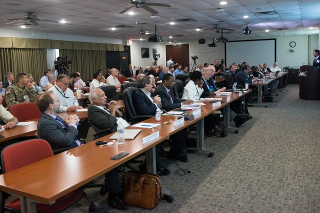 More than 200 visiting partners from industry, academia and the Army attend a three-day capstone event for the Army's Micro Autonomous Systems and Technology Collaborative Technology Alliance Aug. 22-24 at Aberdeen Proving Ground, Maryland.