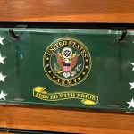 Green Army Crest Served with Pride License Plate