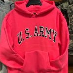 ARMY Hoodie Pink rotated
