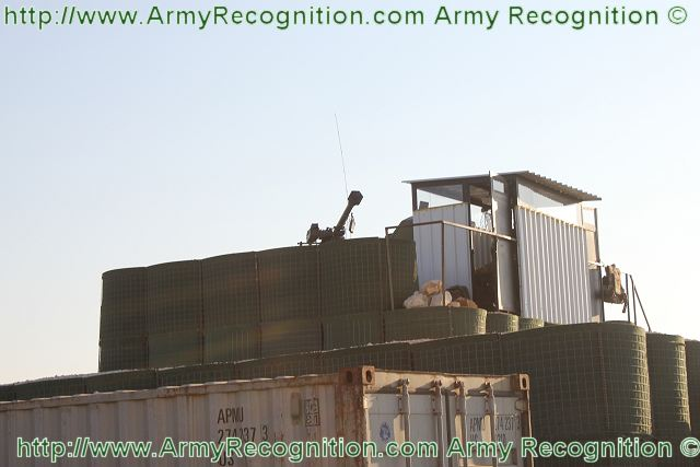 At the French camp area in Lebanon, the Mistral is installed on modular observation tower, to increase the visibility and the reaction for Mistral combat teams.