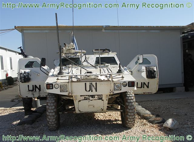 Jamming system against IED (Improvised Explosive Device) is mounted at the front the VBL Panhard