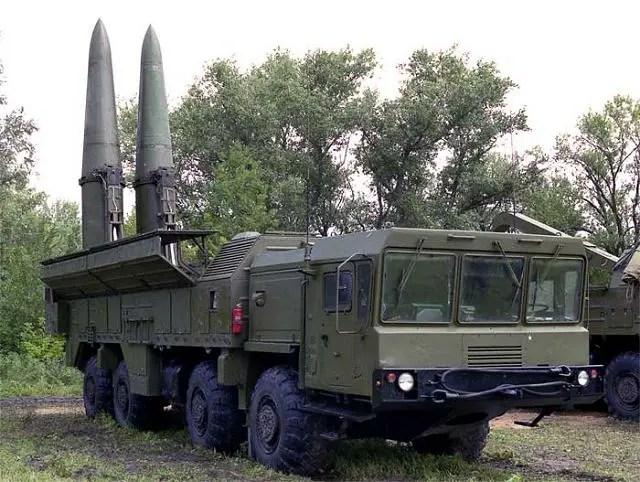 SS-26 Iskander Iskander-M 9K720 9P78E 9T250E Stone tactical ballistic missile Russian army Russia technical data sheet description identification pictures