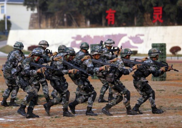 Chinese troops in anti-terrorist joint drill in Cambodia ...