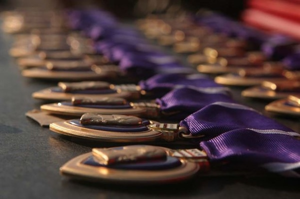 About 1.8 million Purple Hearts have been awarded in America's history. (DoD photo)