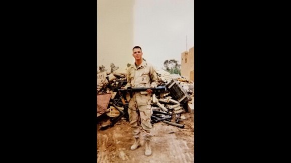 Eddie Wright is pictured in his early days in the Marine Corps. (Courtesy photo)