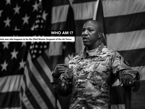 Chief Master Sergeant of the Air Force Kaleth Wright posted a lengthy and passionate thread on Twitter about police brutality and the deaths of black men like George Floyd Monday night. (Air Force)