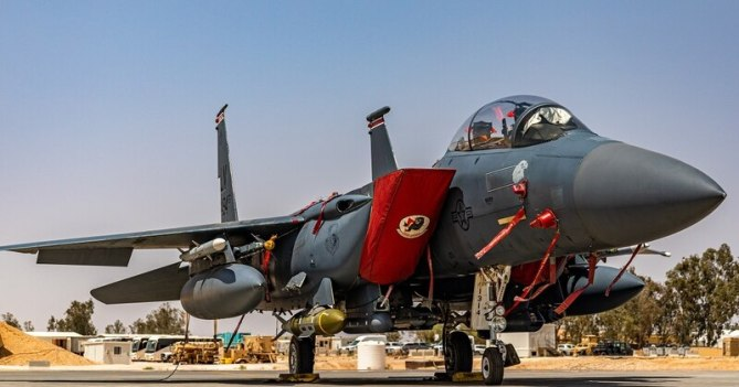 The 494th Expeditionary Fighter Squadron arrives at an undisclosed location to assume responsibility for combat operations in support of Operation Inherent Resolve April 20. (Tech. Sgt. Jamie Spaulding/Air Force)