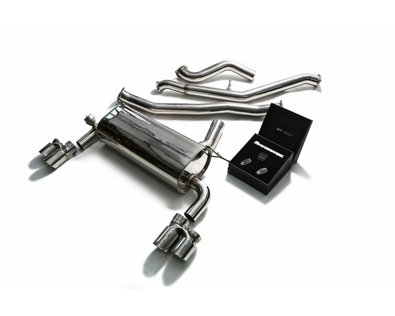 armytrix stainless steel valvetronic catback exhaust system dual carbon tips bmw 335i gt f34 2013 2016