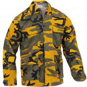 Stinger Yellow Camouflage Military BDU Fatigue Jacket