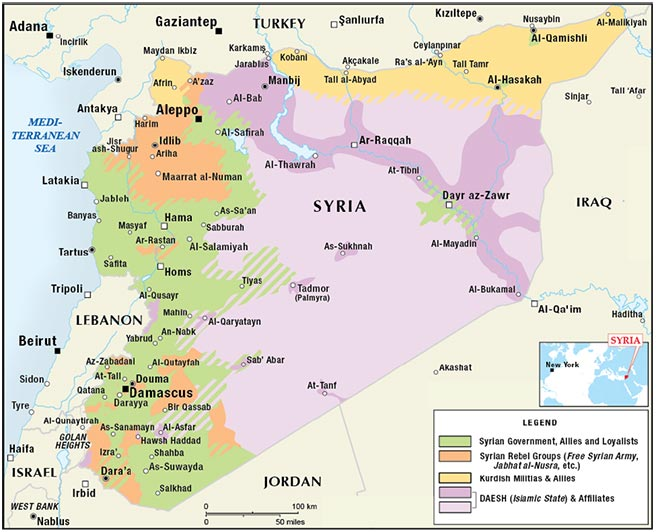 Figure 2. Syrian Civil War: Territorial Control Map as of November 2015