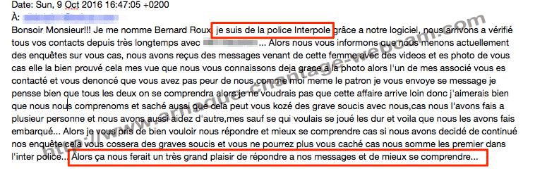 d640bc400cd160 Interpol, Police du net, Gendarmerie... Faux mails et vraie arnaque