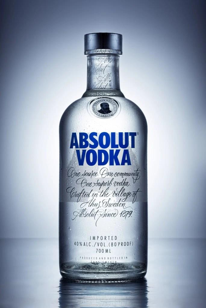 Packshot vodka