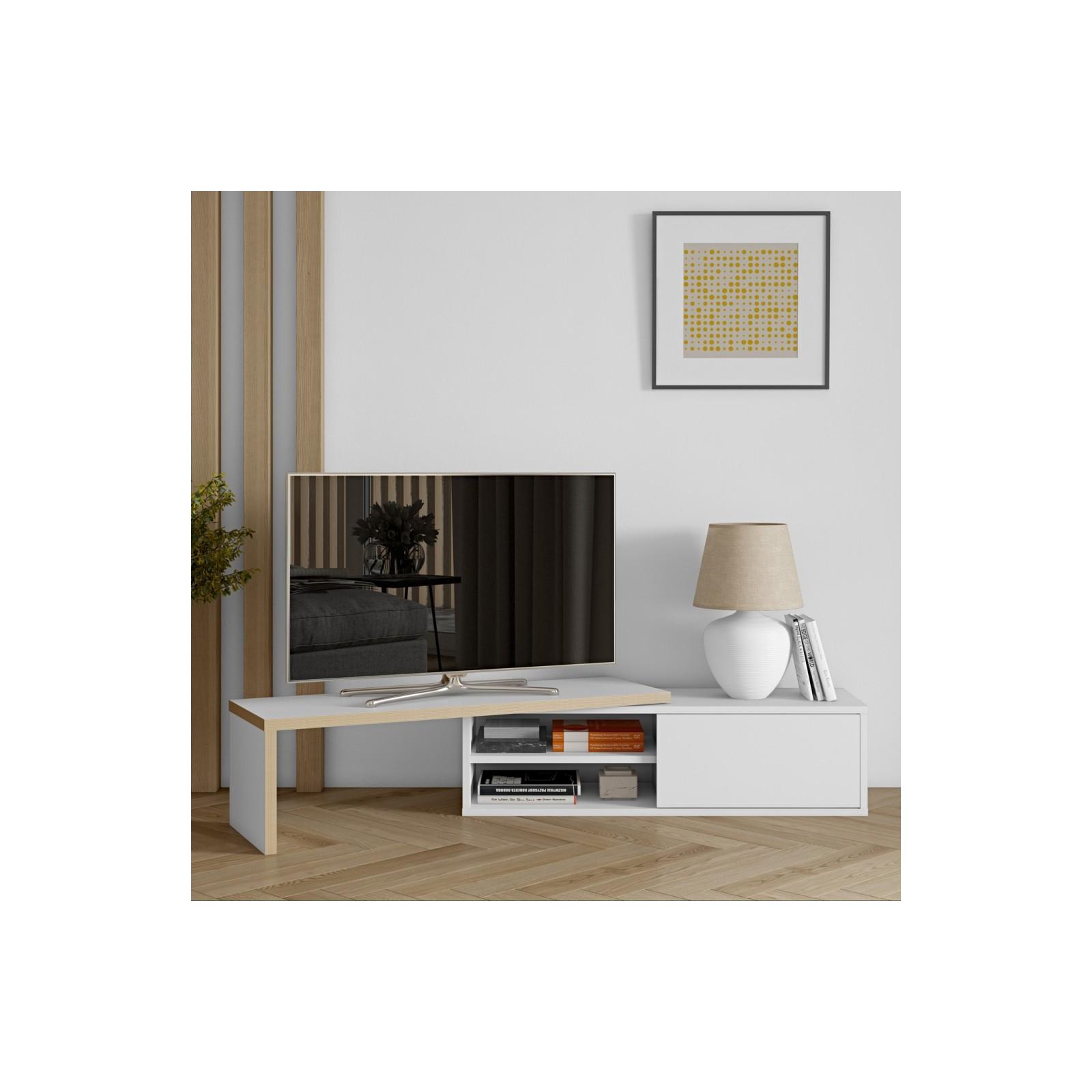 meuble tv modulaire contreplaque blanc