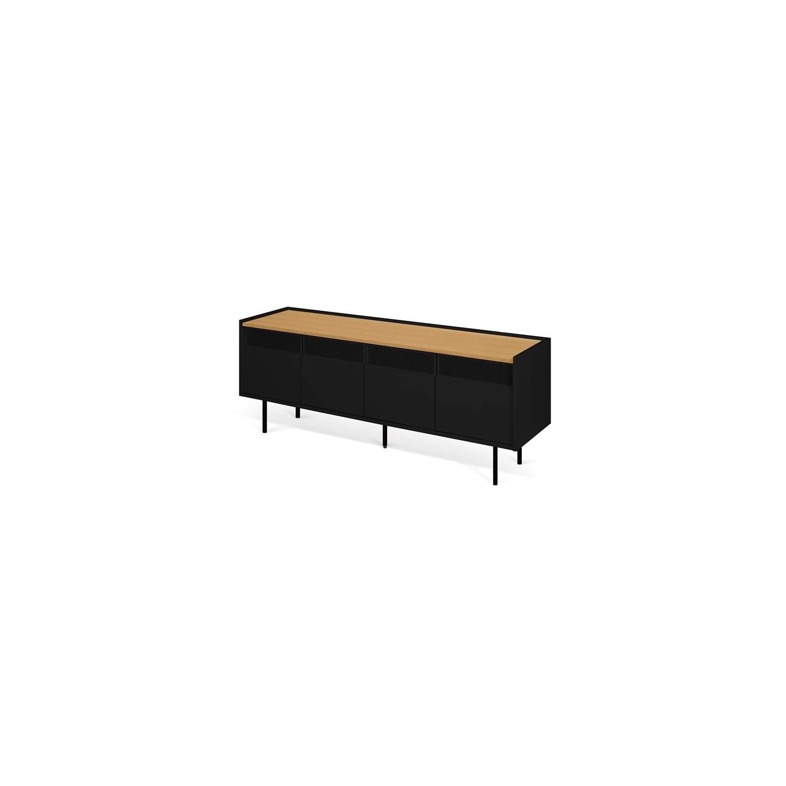 meuble tv casier chene noir