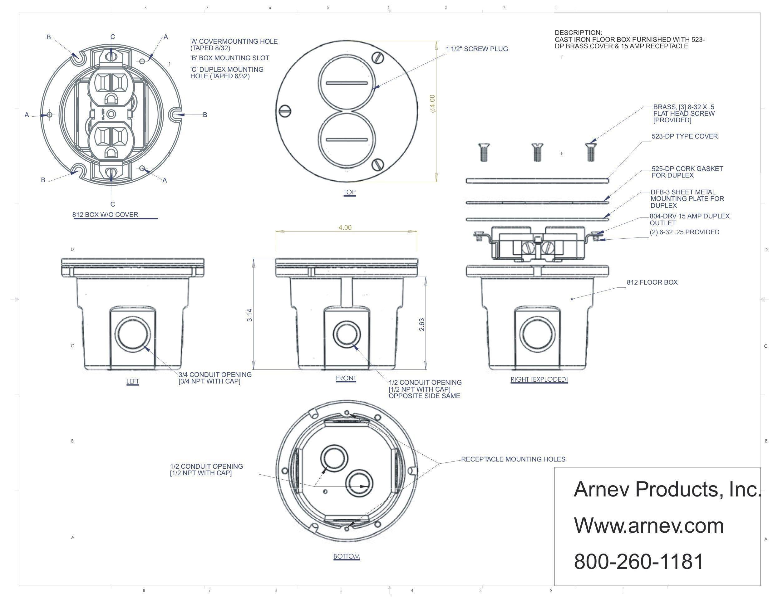 Concrete Floor Electrical Boxes
