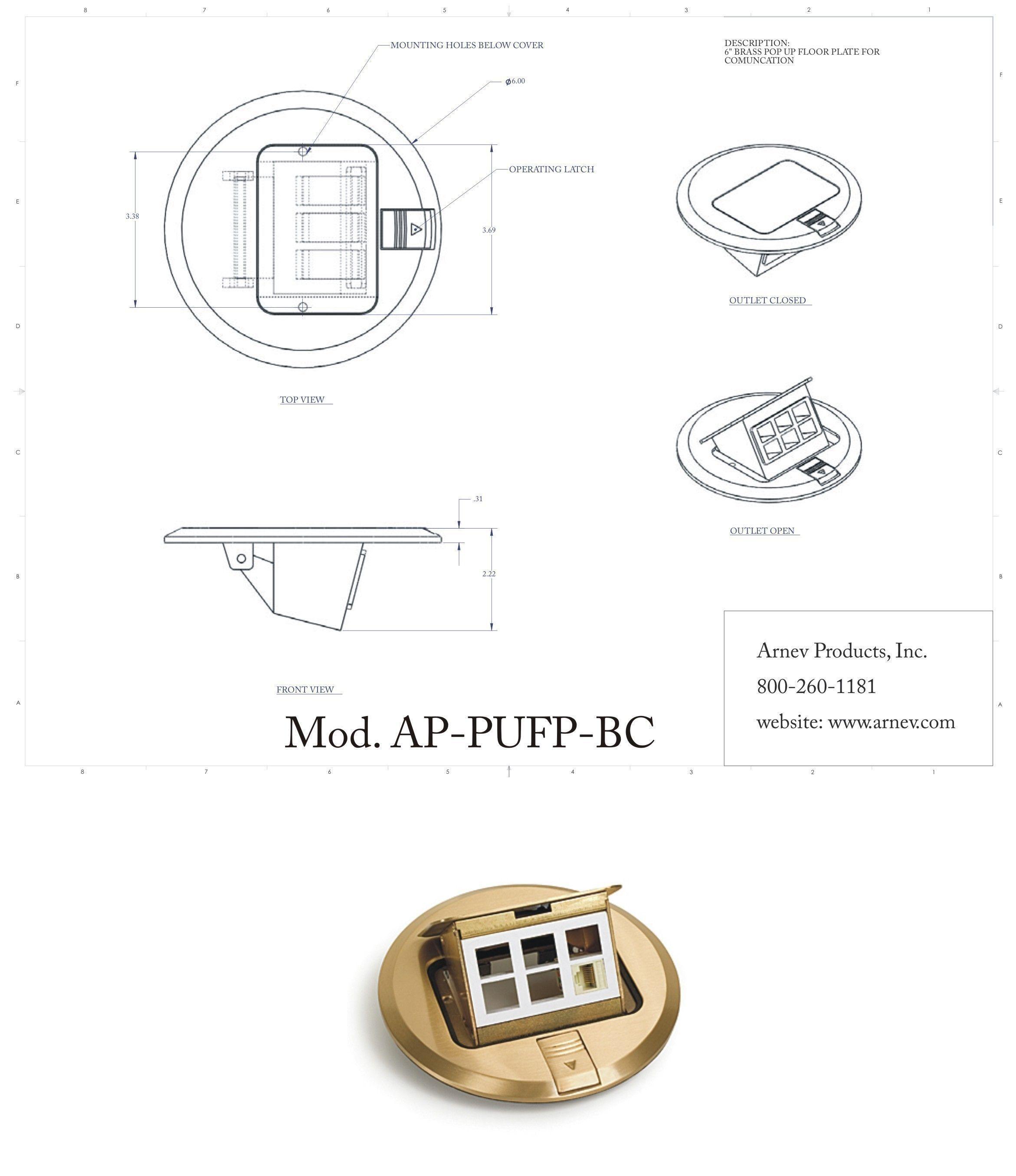 Round Floor Box Cover