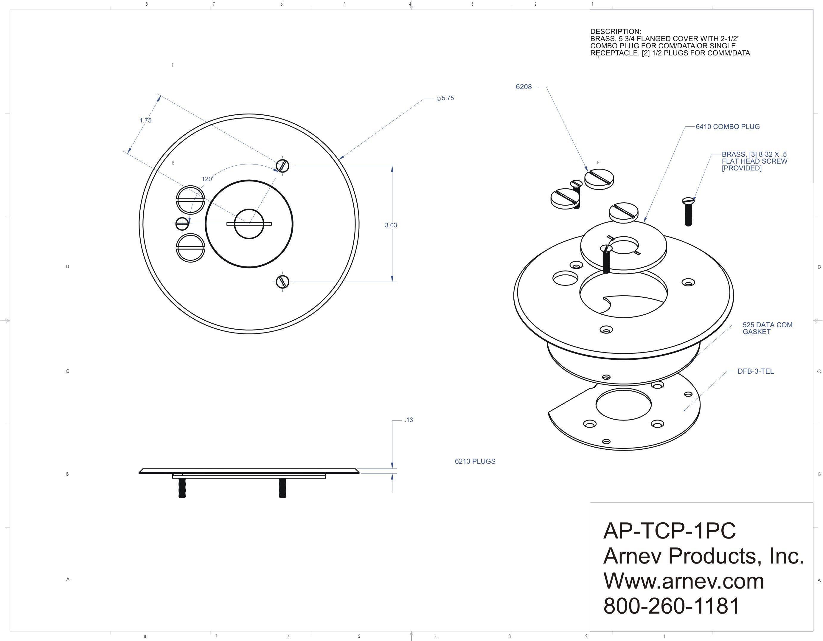 Ap Tcp 1 Pc Floor Box Cover