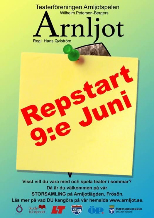 Storsamling för Arnljotspelen den 9 Juni 2018 på Arnljotlägden, Frösön.