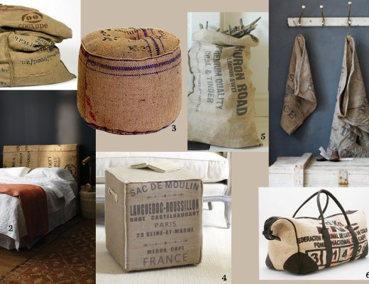Hessian sack mood board
