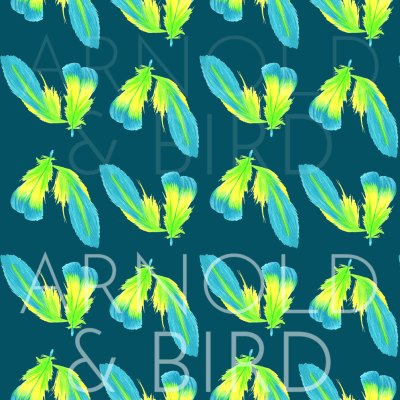 Moody blue feather surface pattern design repeat