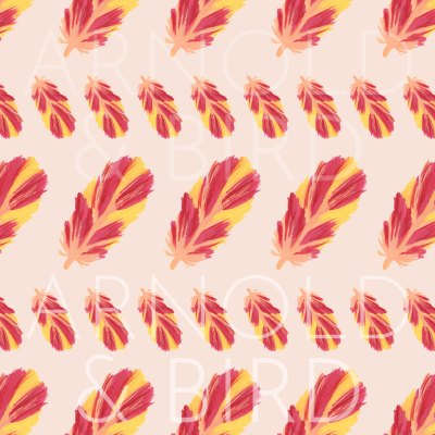 Striped feather surface pattern repeat design