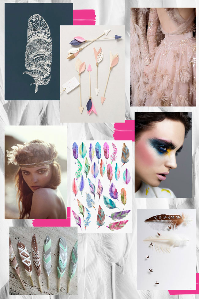 Decorative Feather Trend Mood Board To Inspired Product Development