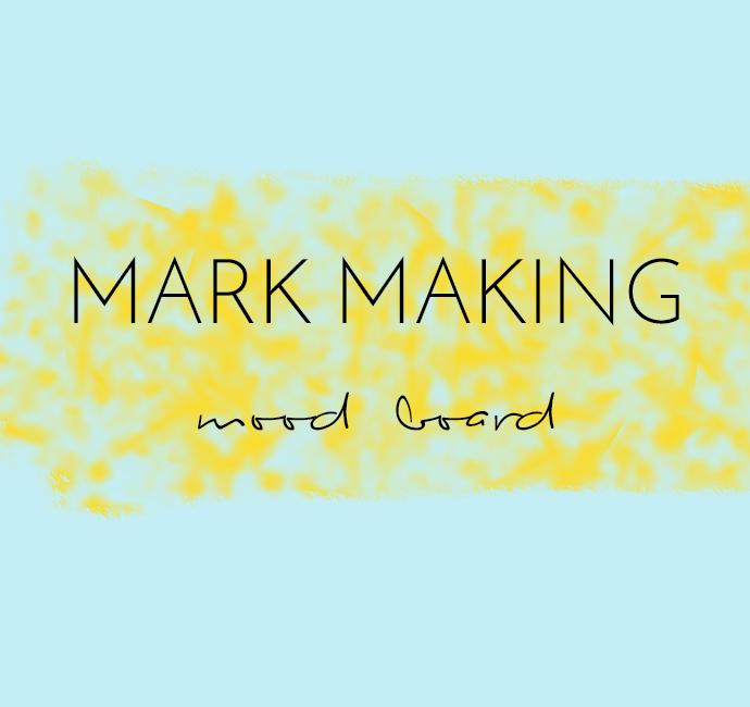 Mark making mood board by Arnold & Bird