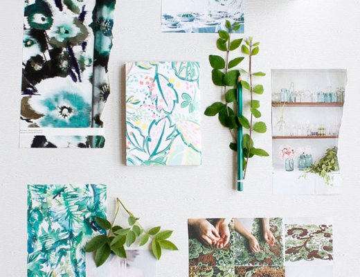 Pantone colour of the Year 2017 Greenery mood board trend by Arnold & bird