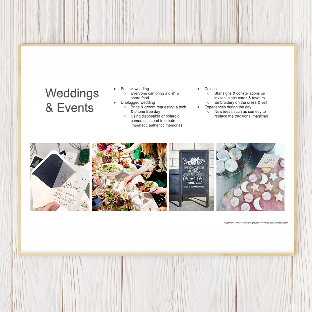 Weddings 2020 Trend Guide - PDF Download & Recording