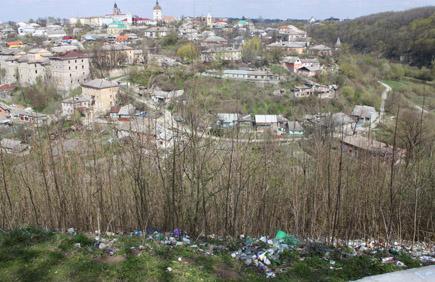 Śmieci w punkcie widokowym