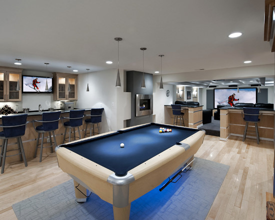 Very Modern Basement Remodel By Moss (Dc Metro)