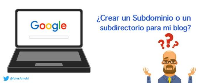crear subdominio subdirectorio para un blog