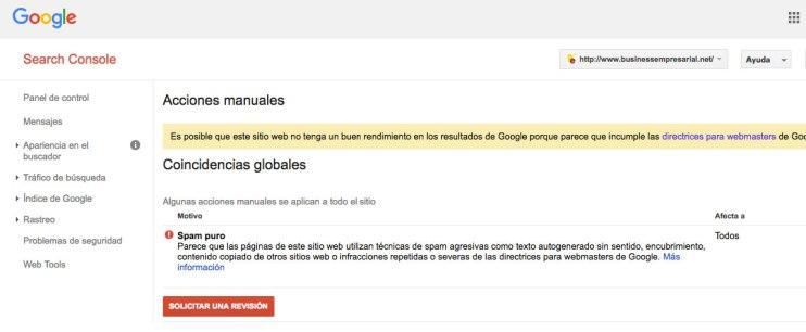 businessempresarial penalización acción manual